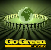 Texas powder coating - Dallas powder coating go green logo